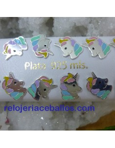 Unicornio Pendiente de plata PUC