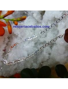 Cadena Eslabón Barco de plata CBMR
