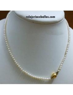 Collar de Perla Cultivada y Cierre Oro APAU