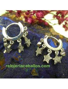 Aretas de Plata con Estrellas 651-0180