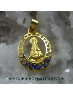 R1102CH Medalla Virgen de Covadonga baño oro